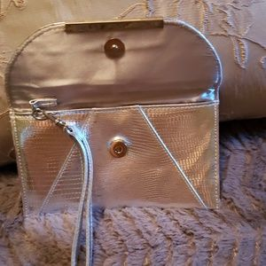 Sephora Bags - Mini Silver Wristlet